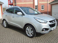 Hyundai IX35 2.0 CRDi Premium 4WD, 2011/61, Speed Silver with Black Half Leather, Low mileage.