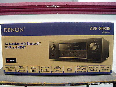 Denon Avr S930h 7 2 Home Theater A V Receiver Amp Dolby Atmos Wifi Dtsx Heos New