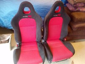 Honda Civic EP3 Facelift Front Seats 2001-2005 with Rails (excellent condition)