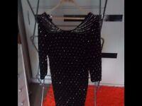 BLACK DRESS-H&M-GORGEOUS-SIZE M