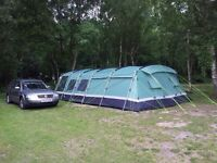 Higear Corado 8 man tent and trailer and equipment