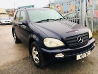 MERCEDES ML270 AUTOMATIC DIESEL 2.7 CDI 2004 PRIVATE PLATE LOW MILEAGE FULL HISTORY 95000 MILES