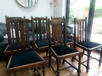 6 Period /Vintage Dining chairs -