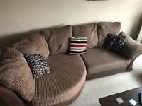 DFS corner sofa and cuddle chair and footstool