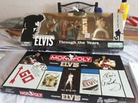 rare and Colletible Elvis Monopoly and Figures