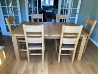 6-8 Seater Extendable Dining Table and 6 dining chairs