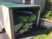 Plastic Storage Shed - Well used!
