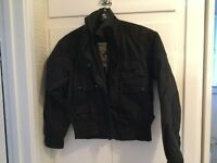 Black motorcycle jacket