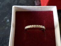 White gold full eternity ring