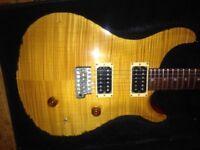 1988 PRS Custom 24 vintage yellow. Original USA rare