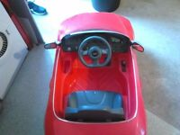Audi battery powered car, great condition although corner of windscreen broke, hence price