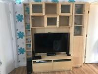 Ikea TV cabinet, cupboards and bookcases