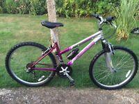 Girls/ Ladies Falcon Eclipse Mountain Bike Has front Suspension; 18 twist-grip gears; 26 wheels
