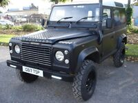 LAND ROVER DEFENDER 90 4C SW DT DIESEL BLACK 1990 FULL MOT