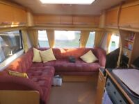 elddis crusader supersirocco on all year seasonal site in looe cornwall with fees paid up till nov