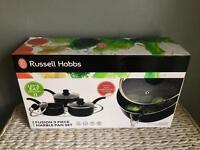 BRAND NEW UNOPENED RUSSELL HOBBS PAN SET