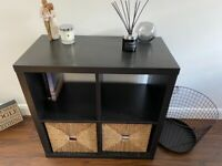Ikea Kallax Square Storage Unit & Inserts