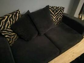 DFS Sofa black 1 year old with cushions. Collection only IP2