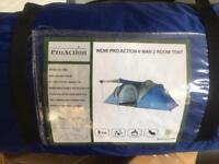 Pro action 6 man tent with 2 rooms