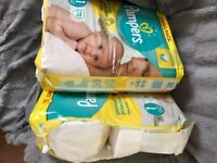 200 Size 1 Nappies (Pampers mainly)
