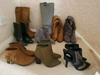10 Pairs of Boots Size 3 - Can Deliver