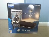 HARDLY USED/AS NEW, SONY PLAYSTATION 3 PS3 500GB SUPER SLIM CONSOLE WITH UNUSED/SEALED DESTINY GAME