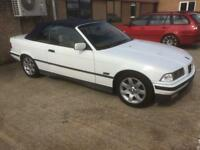 BMW 3 series e36 325i convertible m50 m52 alpine white drift