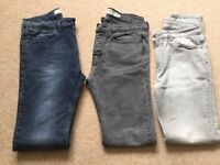 Men's skinny jeans, top man and river island.32W 32L