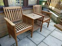 Garden Twin Chairs Combined 2 tier Snack Table