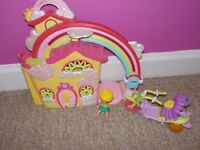 My little pony house, disney fairy bike with small doll