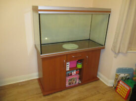 4ft RENA AQUALIFE AQUARIUM / FISH TANK IN VGC WITH CABINET, LIGHTS AND HEATERS - NORTHAMPTON