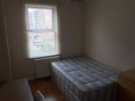 Decent size single room with double bed.Garden and living room.Zone-2.East Acton. All bills incl.