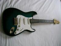 Hohner ST-59 electric guitar - Korea - '90s - Fender Stratocaster homage- Blueburst- Vintage