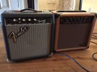 Fender Frontman 10G + Stagg 10AA guitar amps
