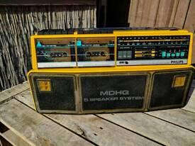 Phillips 80's Radio Cassette