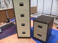 Four Drawer Steel Filing Cabinet & 2 Drawer Steel Filing Cabinet/ Files & Tabs