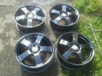 "BSA Motorsport 17""alloy wheels"