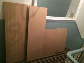 4x MDF tongue and groove panels unused