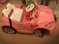 Child's electric pink Audi