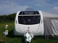 6 berth fixed end bed touring caravan