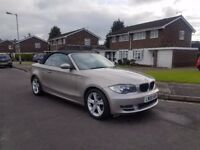 2008 BMW 120I SE,CONVERTIBLE,6 SPEED MANUAL,12 MONTHS MOT,1 KEEPER,66K MILES ONLY!!!VGC,07858140523