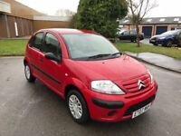 2007 Citroen c3 1.1 AirPlay+ 5 door in red 12 months mot/3 months parts and labour warranty