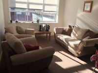 Large, comfy DFS sofa and matching armchair