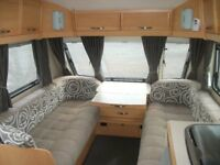 Elddis Avante 540 S 4 berth, Fixed rear bed & rear washroom, 2010 model.