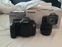 Canon EOS 60D DSLR Camera Body and Canon 50mm f/1.8 EF Mark II lens