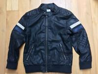 Boys leather style jacket 7-8yrs