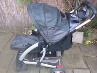 Graco Travel System - pushchair, carrier cot and car seat