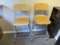 2 folding breakfast bar stools from IKEA