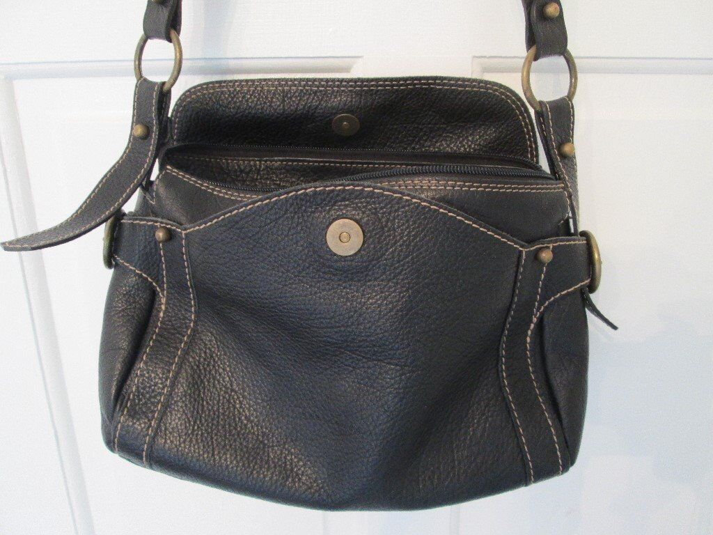 Reduced Designer Marco Buggiani Shoulder Bag Genuine Soft Leather Made In Italy