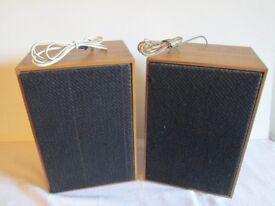 2 Seven & half inch x 11 inch wooden speakers